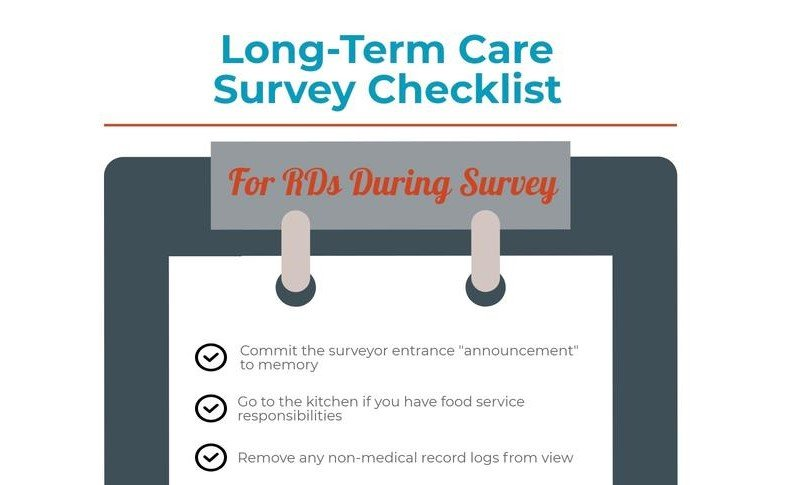 Long Term Care Survey Checklist For Dietitians Dietitians