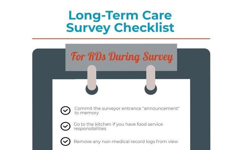 Long-Term Care Survey Checklist for Dietitians | Dietitians